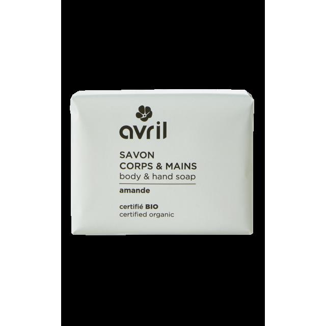 Savon corps & mains amande certifié BIO, Avril (100 g)