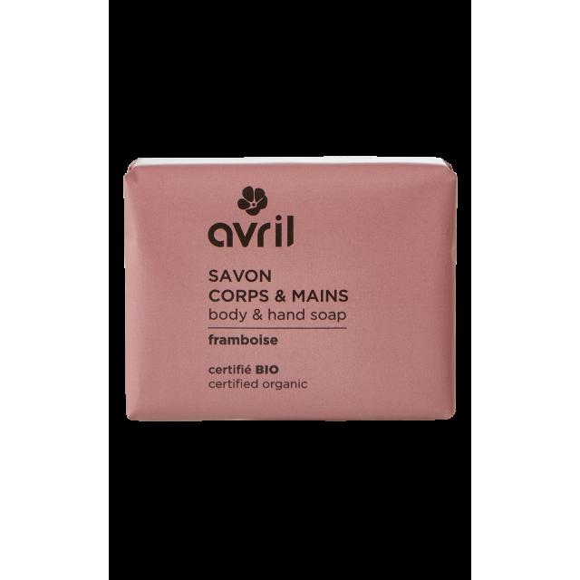 Savon corps & mains framboise certifié BIO, Avril (100 g)