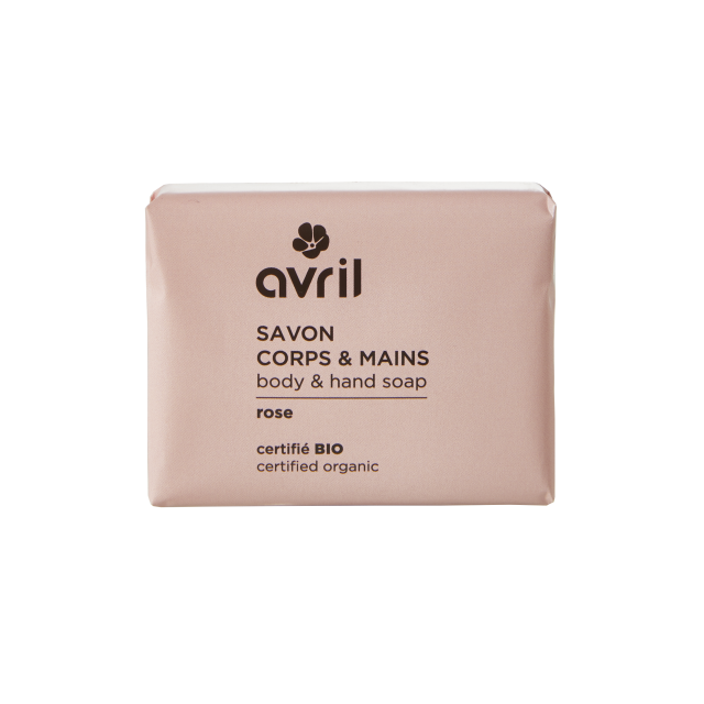 Savon corps & mains rose certifié BIO, Avril (100 g)
