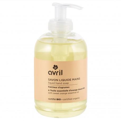 Savon liquide mains fraîcheur d'agrumes certifié BIO, Avril (300 ml)
