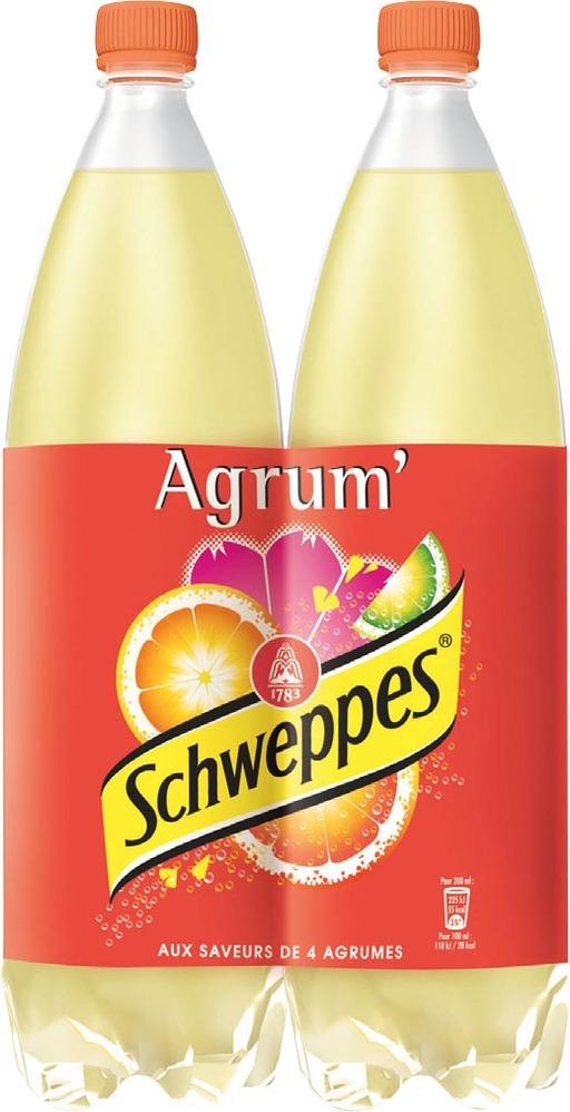 Schweppes Agrum' LOT DE 2 (2 x 1.5 L)