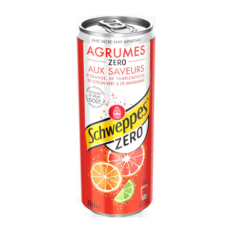 Schweppes Agrum' zéro (33 cl)