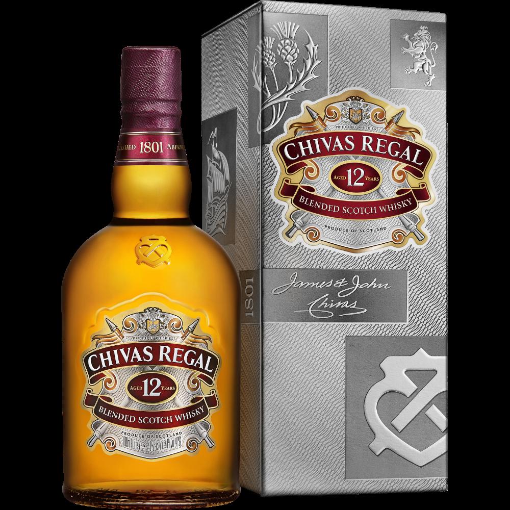 Whisky Chivas 12 ans d'âge (1 L sous étui)