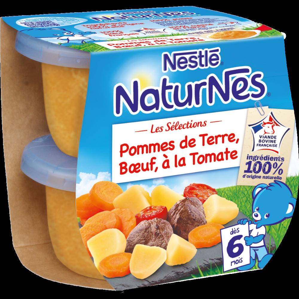 Les sélections pommes de terre, boeuf, à la tomates - dès 6 mois, Naturnes Nestlé (2 x 200 g)