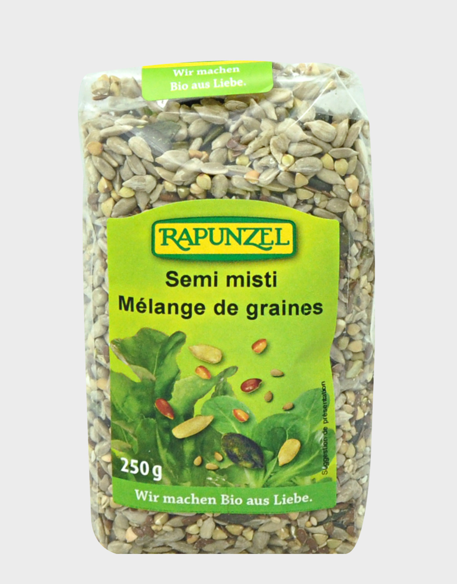 Mélange semi misti de graines grillées BIO, Rapunzel (250 g)