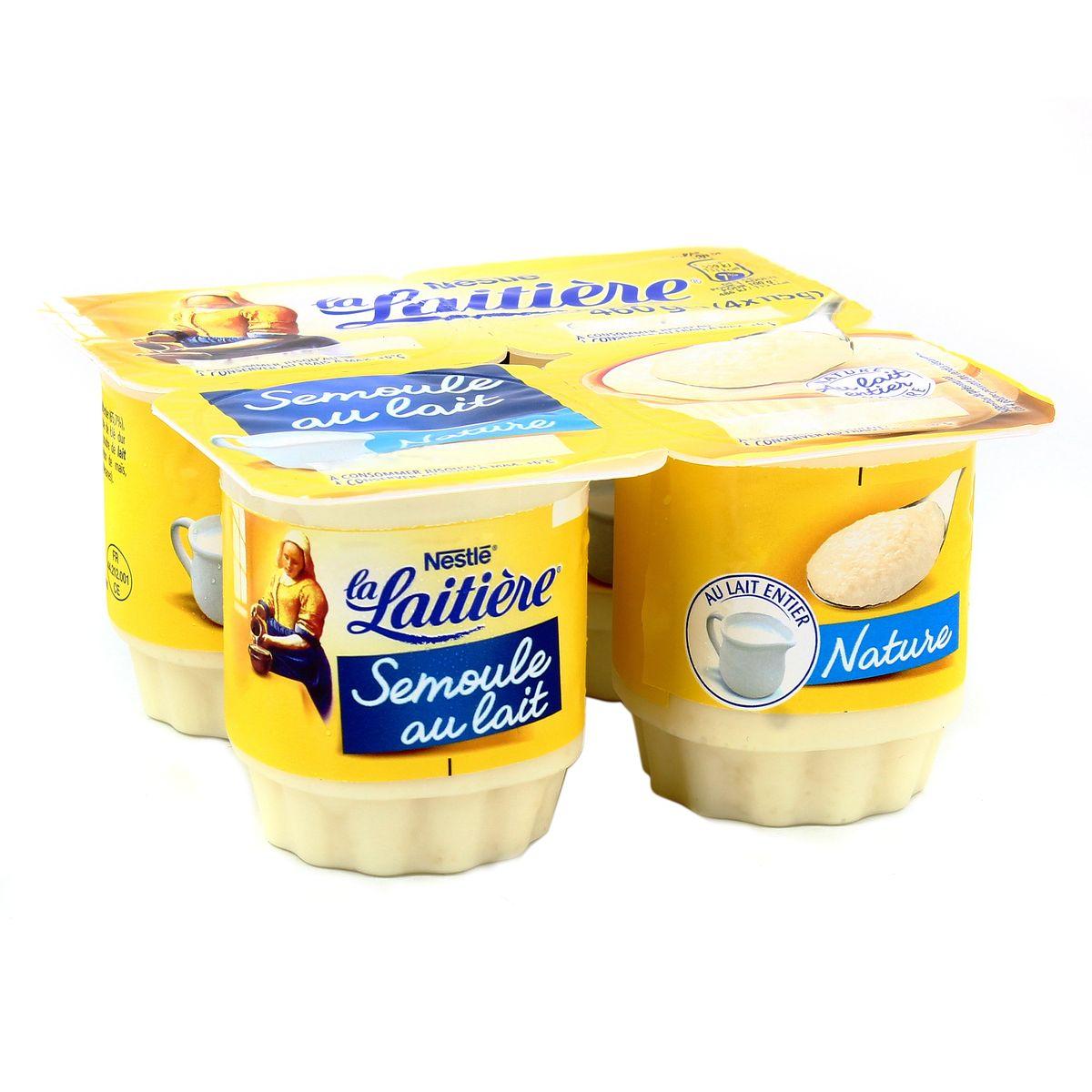 Semoule au lait, La Laitière (4 x 100 g)