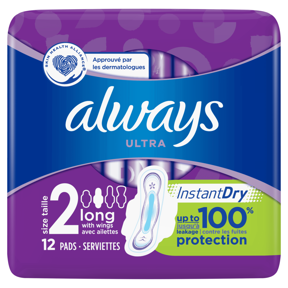 Serviettes Ultra Long Plus T2, Always (x 12)