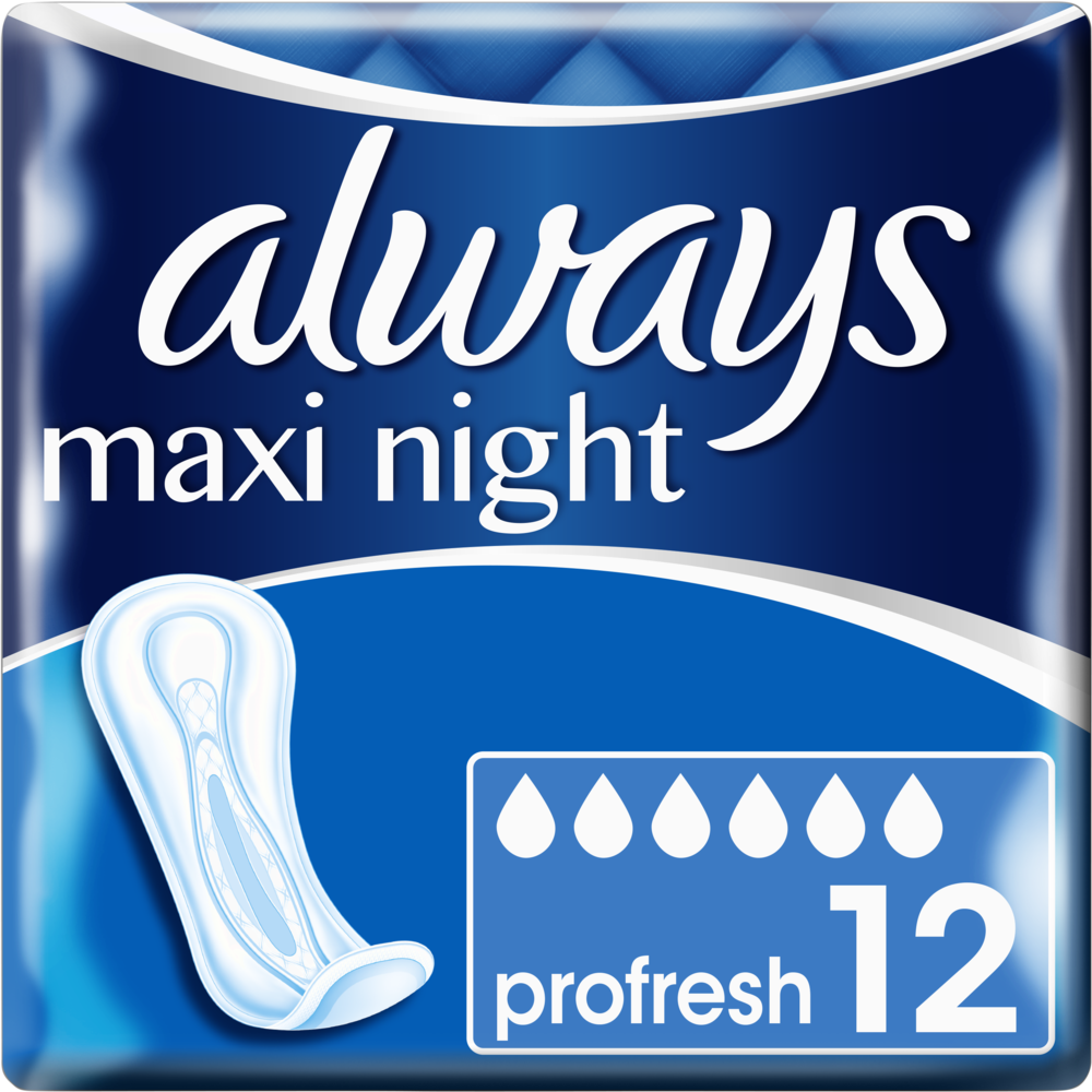 Serviettes Maxi Night ProFresh, Always (x 12)