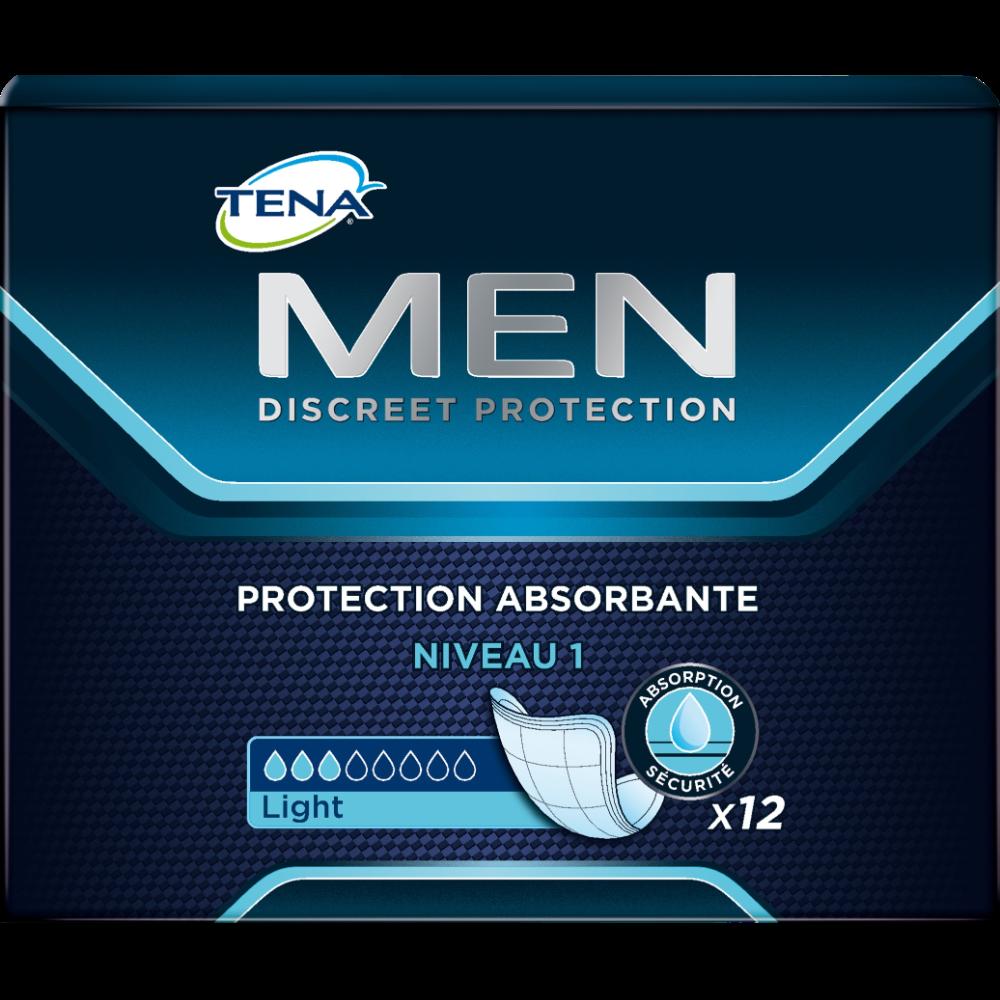 Serviettes pour incontinence pour hommes niveau 1, Tena (x 12)