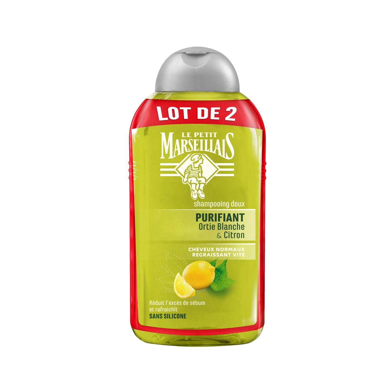Shampoing aux extraits d'ortie & citron, Le Petit Marseillais LOT DE 2 (2 x 250 ml)