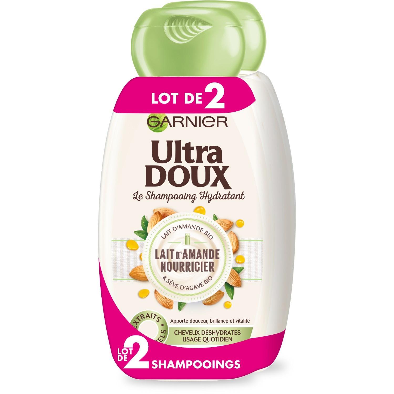 Shampooing au lait d'amande nourricier, Ultra Doux LOT DE 2 (2 x 250 ml)