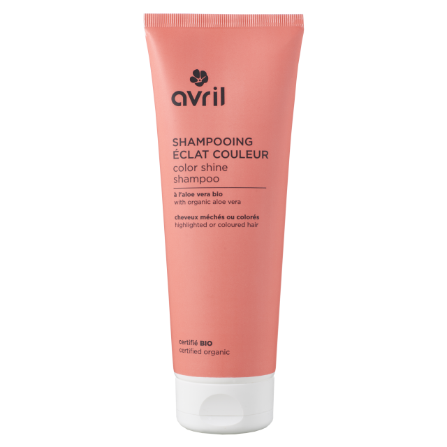 Shampooing éclat couleur pour cheveux colorés et méchés certifié BIO, Avril (250 ml)