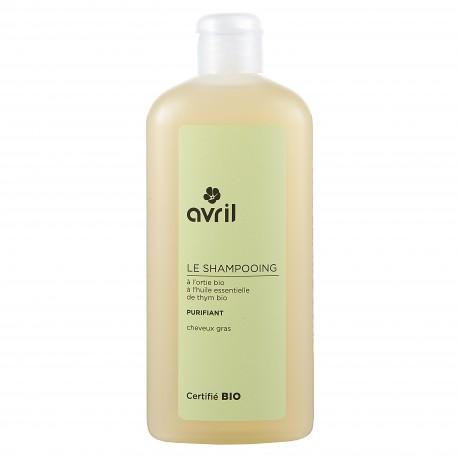 Shampooing purifiant pour cheveux gras certifié BIO, Avril (250 ml)