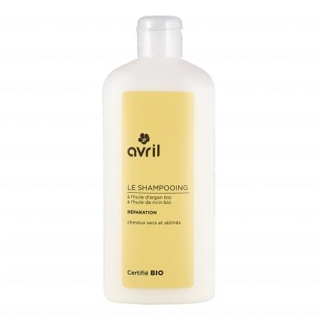 Shampooing réparation pour cheveux secs et abîmés certifié BIO, Avril (250 ml)