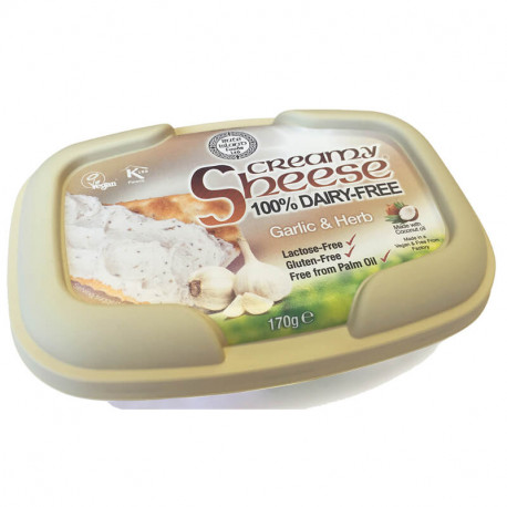Ail & fines herbes à tartiner vegan, Sheese (255 g)