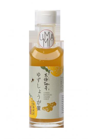 Sirop de Yuzu au miel & gingembre (185 ml)