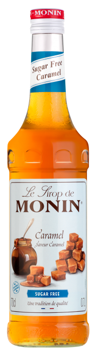 Sirop saveur Caramel (sans sucre), Monin (70 cl)