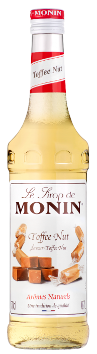 Sirop saveur Toffee Nut, Monin (70 cl)