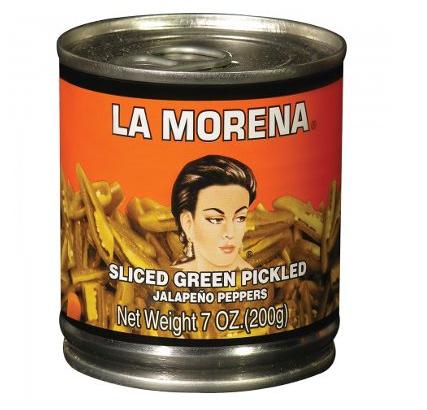 Piments verts en tranches au vinaigre, La Morena (200 g)
