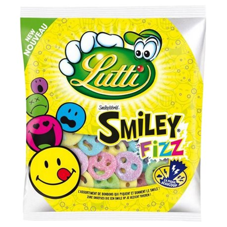 Bonbons Smiley Fizz, Lutti (180 g)