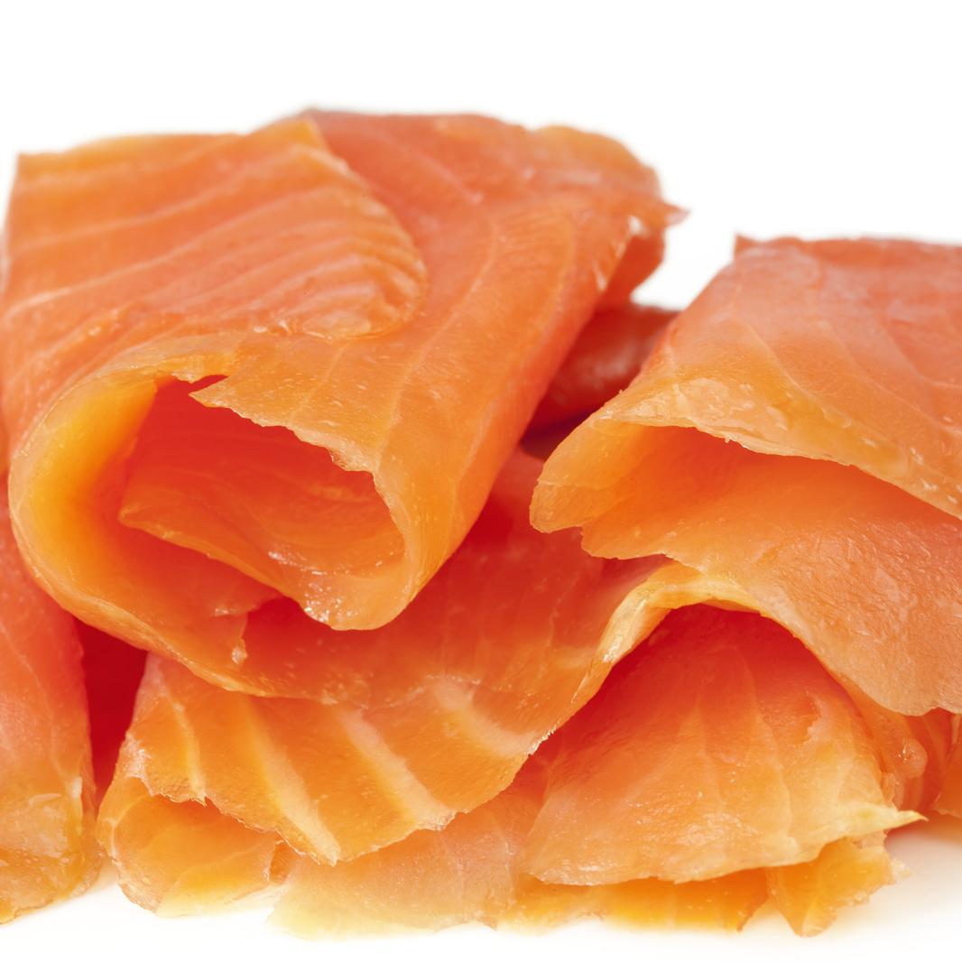 Barquette de saumon fumé en lamelle (60 g)