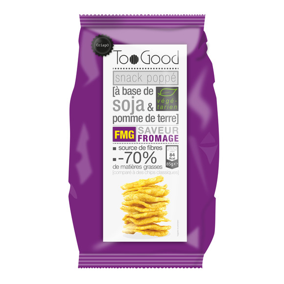 Snack poppé soja & pdt saveur fromage Too Good (85 g)