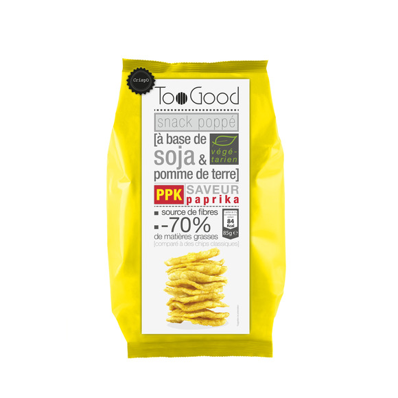 Snack poppé soja & pdt saveur paprika, Too Good (85 g)