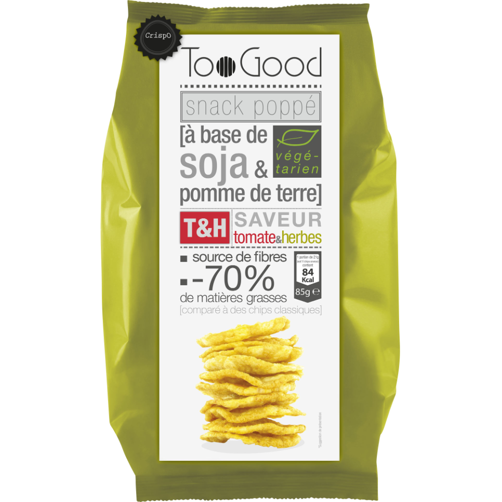 Snack soja tomate et herbes, Too Good (85 g)