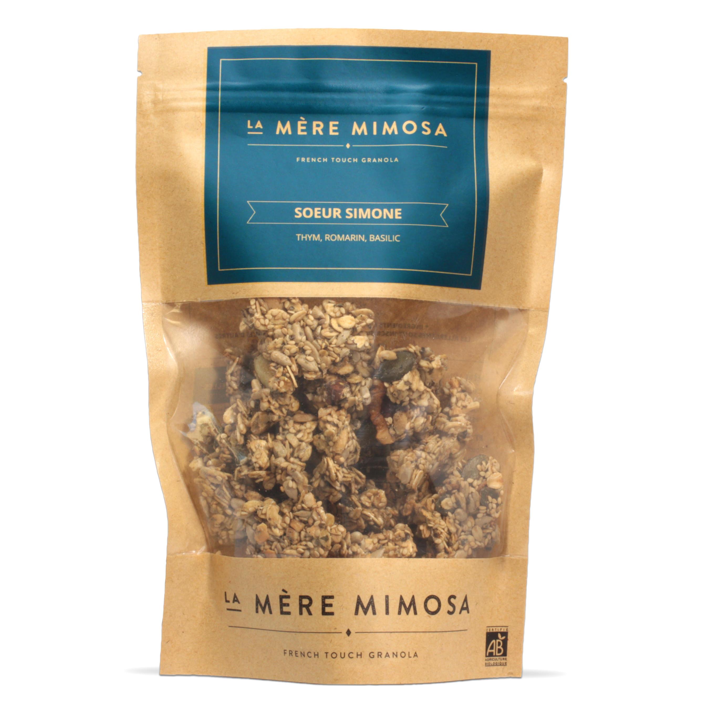 """Granola artisanal salé """"Soeur Simone"""", La Mère Mimosa (350 g)"""