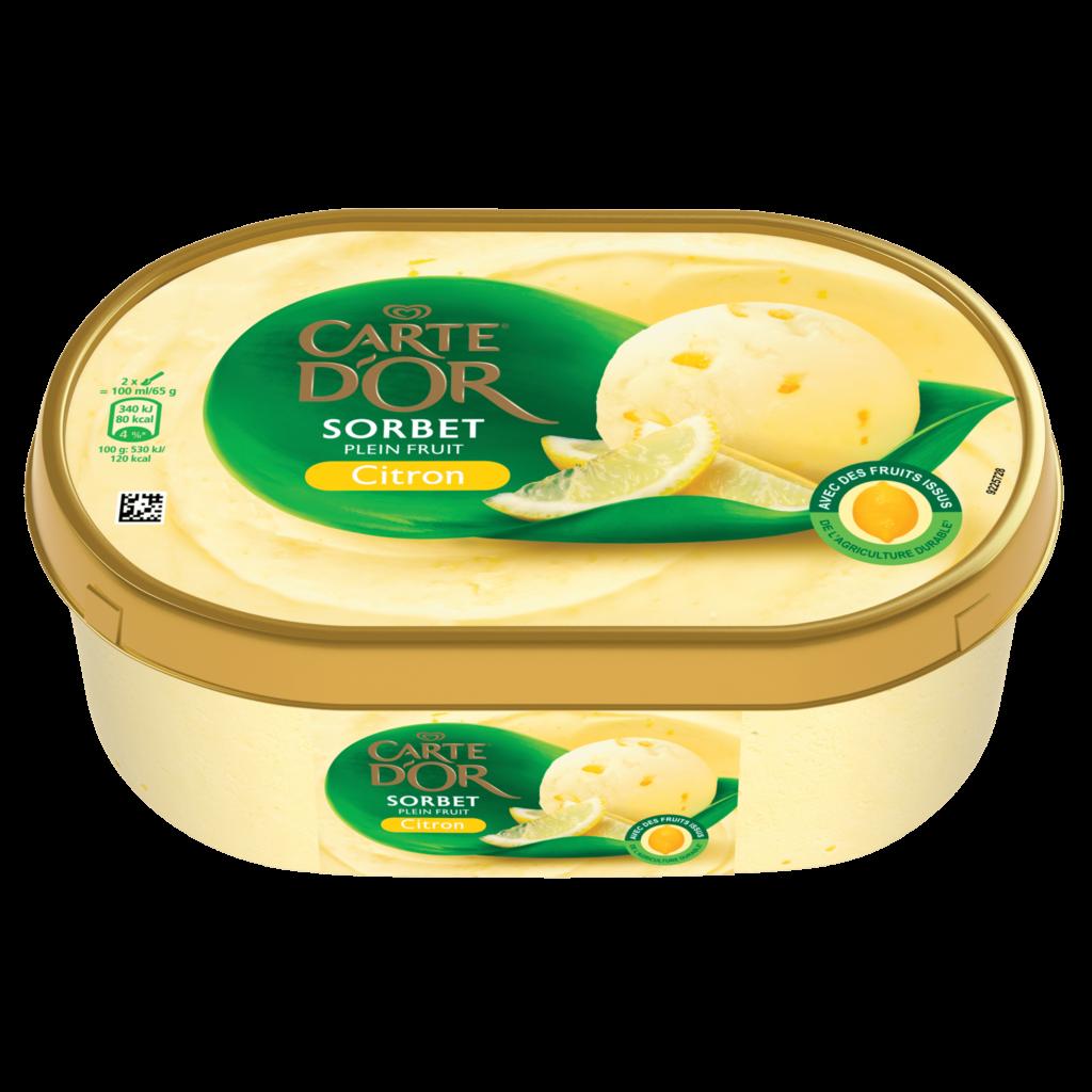 Sorbet Citron, Carte d'Or (1 L)