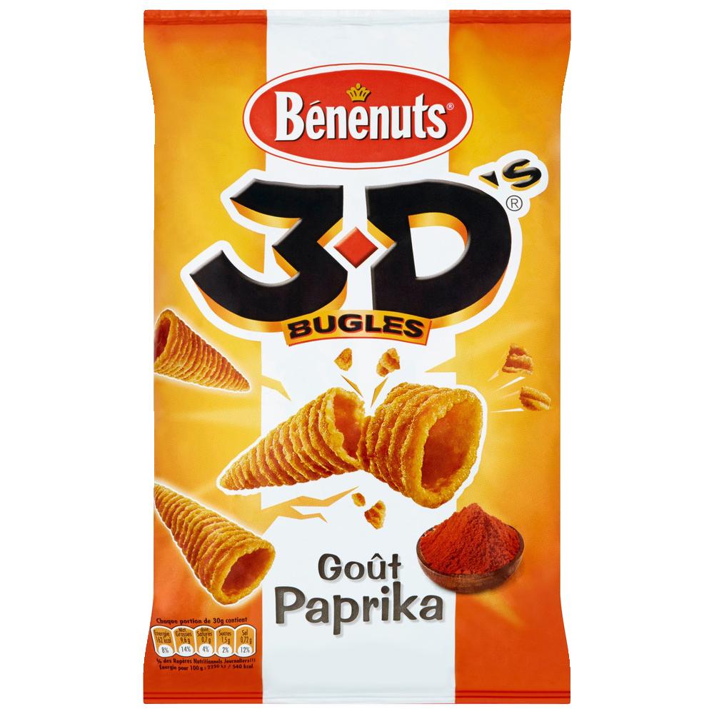 3 D'S bugles au paprika, Bénénuts (85 g)