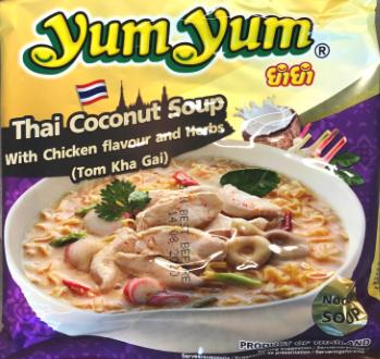 Soupe de nouilles à la noix de coco recette Thailande arôme poulet, Yum Yum (100 g)