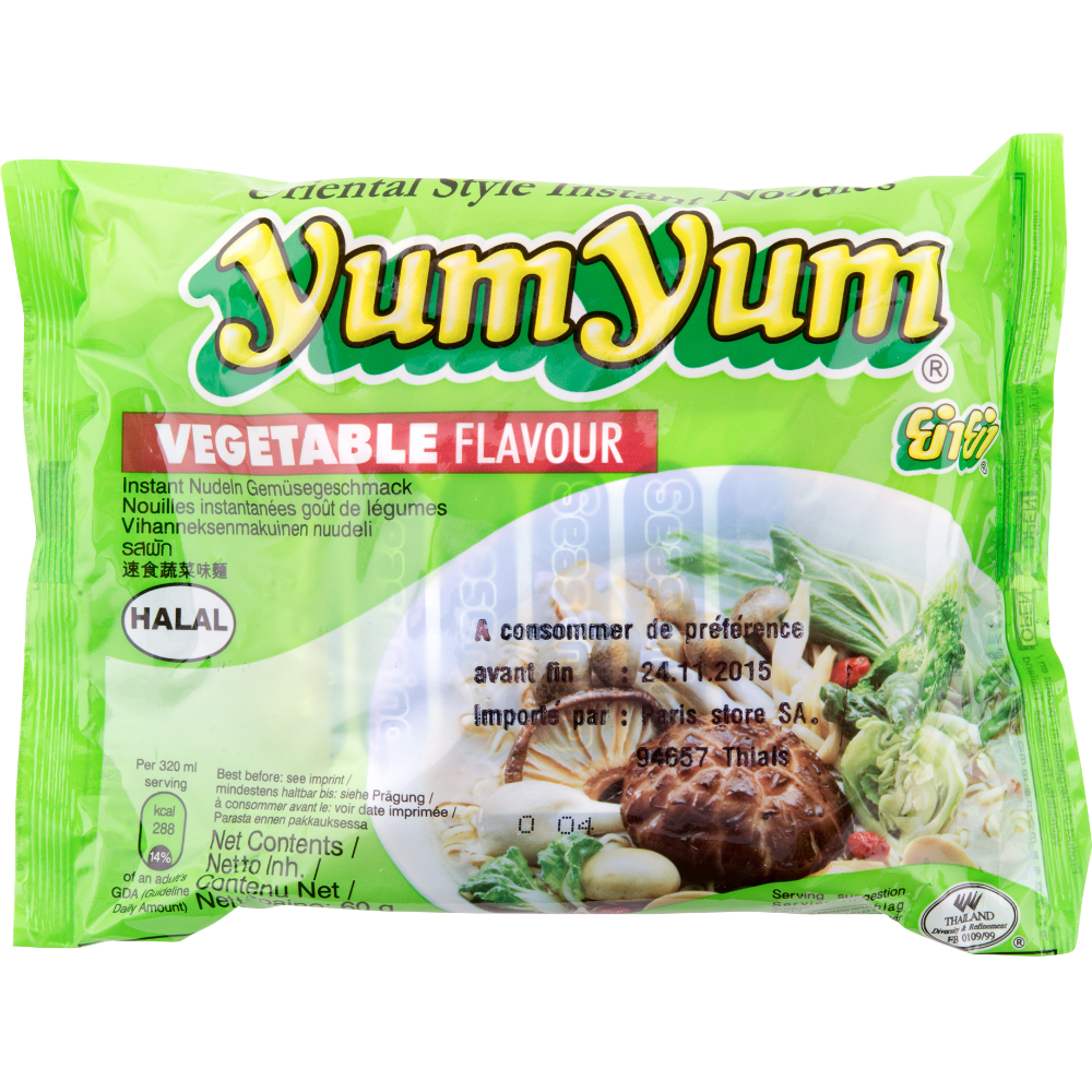 Soupe de nouilles arôme légumes, Yum Yum (60 g)