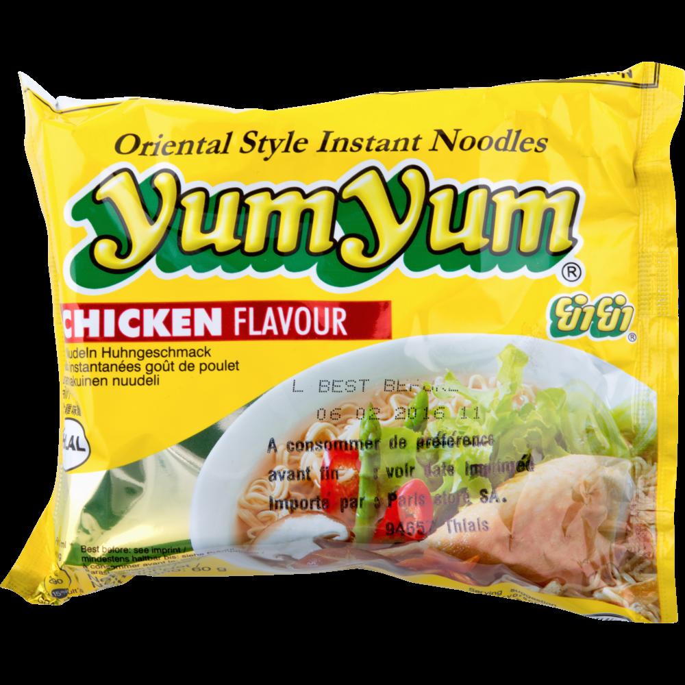 Soupe de nouilles arôme poulet, Yum Yum (60 g)