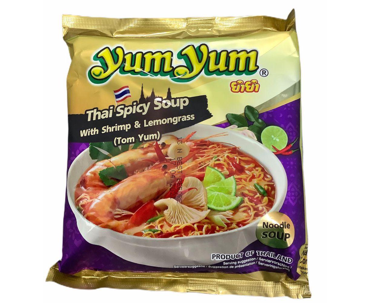 Soupe de nouilles Spicy Thaï arôme crevettes, Yum Yum (100 g)