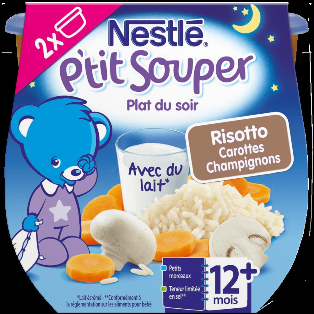 P'tit souper risotto carottes champignon - dès 12 mois, Nestlé (2 x 200 g)