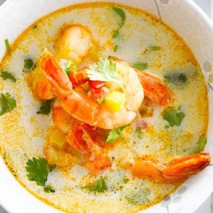 Soupe fraîche Thaï coco crevettes par La belle vie (300 g)