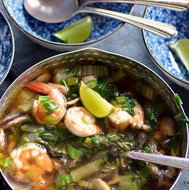 Kit soupe de crevette, pak choï et vermicelles