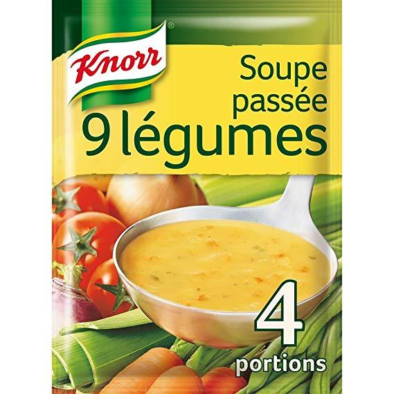Soupe passée 9 légumes déshydratée, Knorr (4 portions)