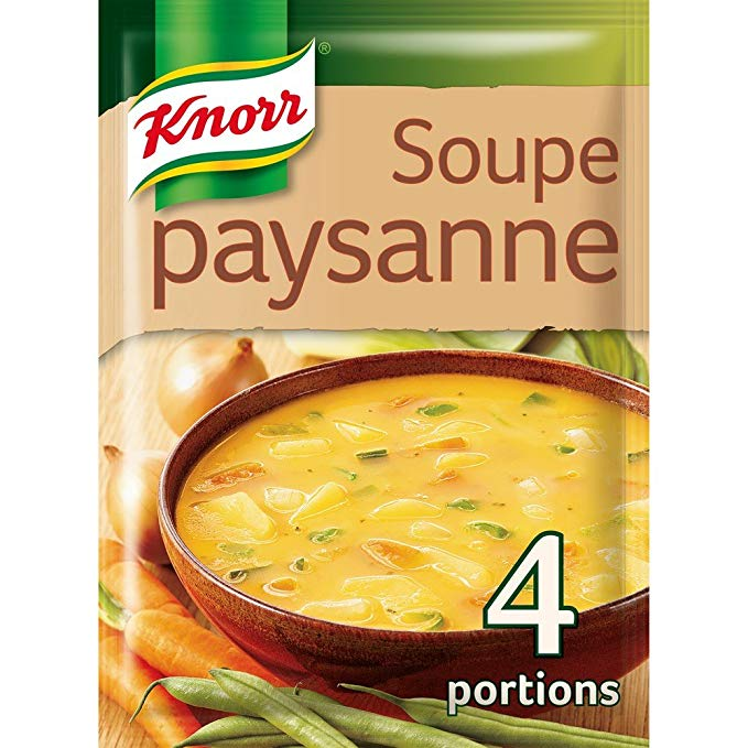 Soupe paysanne légumes au lard déshydratée, Knorr (4 portions)