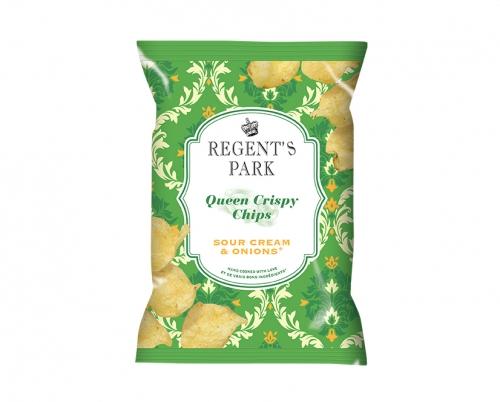 Chips à la crème et aux oignons Queen Crispy, Regent's Park (40 g)