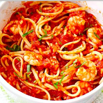 Spaghetti aux gambas et au rhum (400 g)