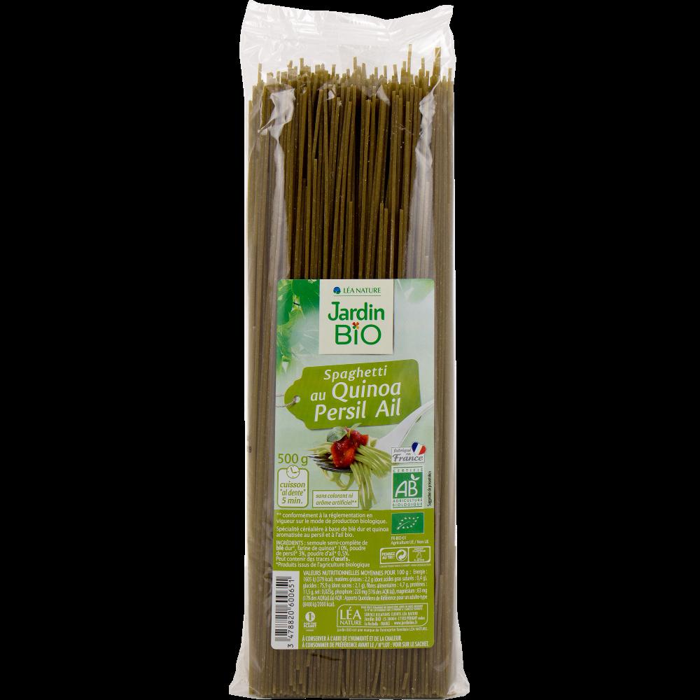 Spaghetti au quinoa et au persil BIO, Jardin Bio (500 g)
