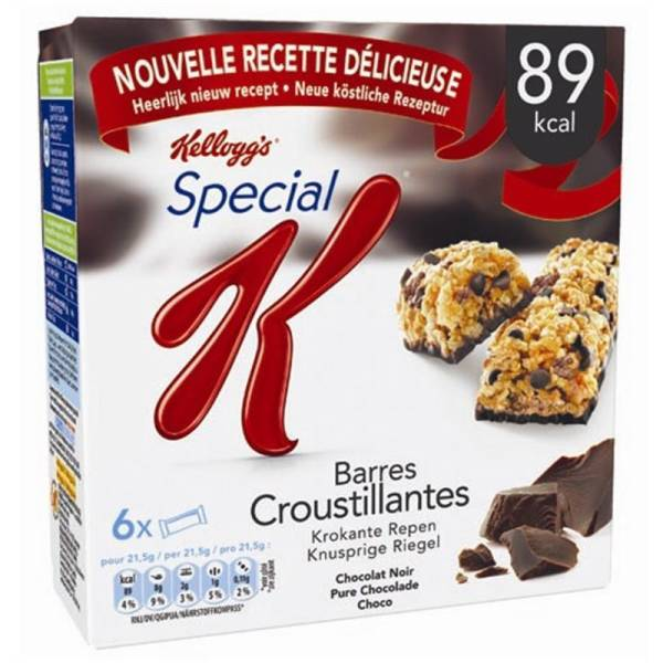 Barres Spécial K chocolat Kellogg's (6 barres, 120 g)