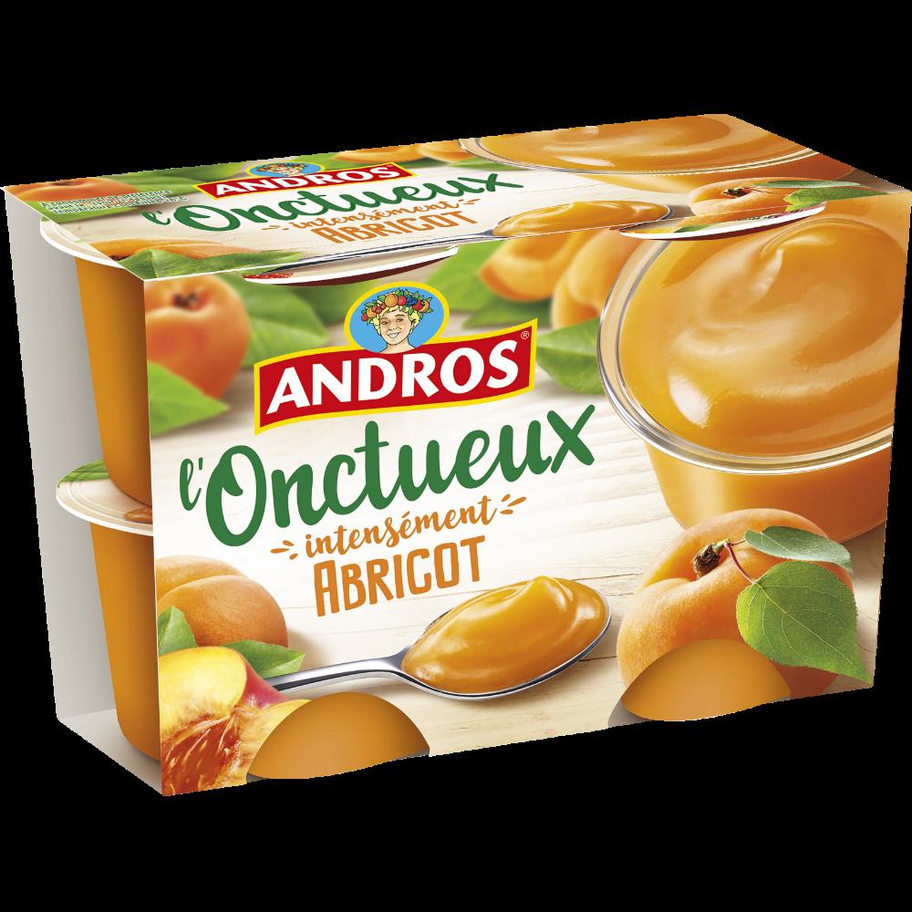 Spécialité L'Onctueux aux abricots, Andros (4 x 97 g)