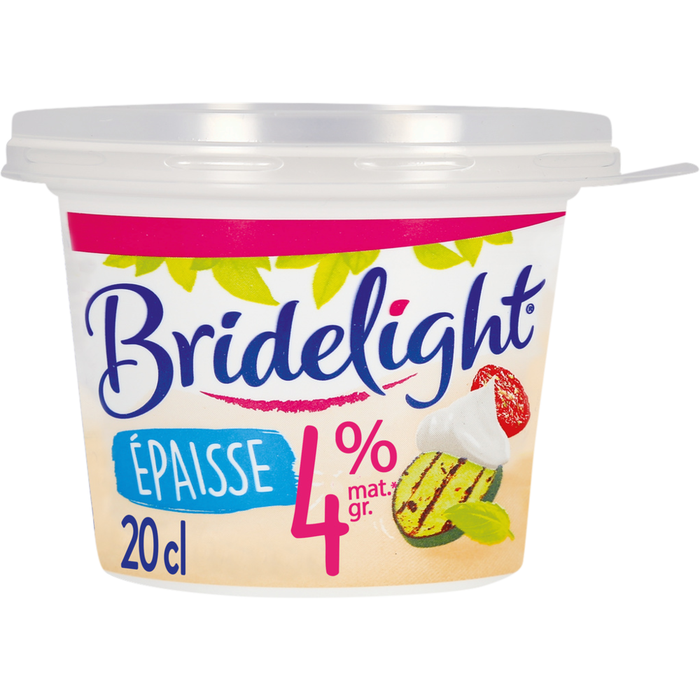 Crème fraîche épaisse 4% de MG, Birdelight (20 cl)