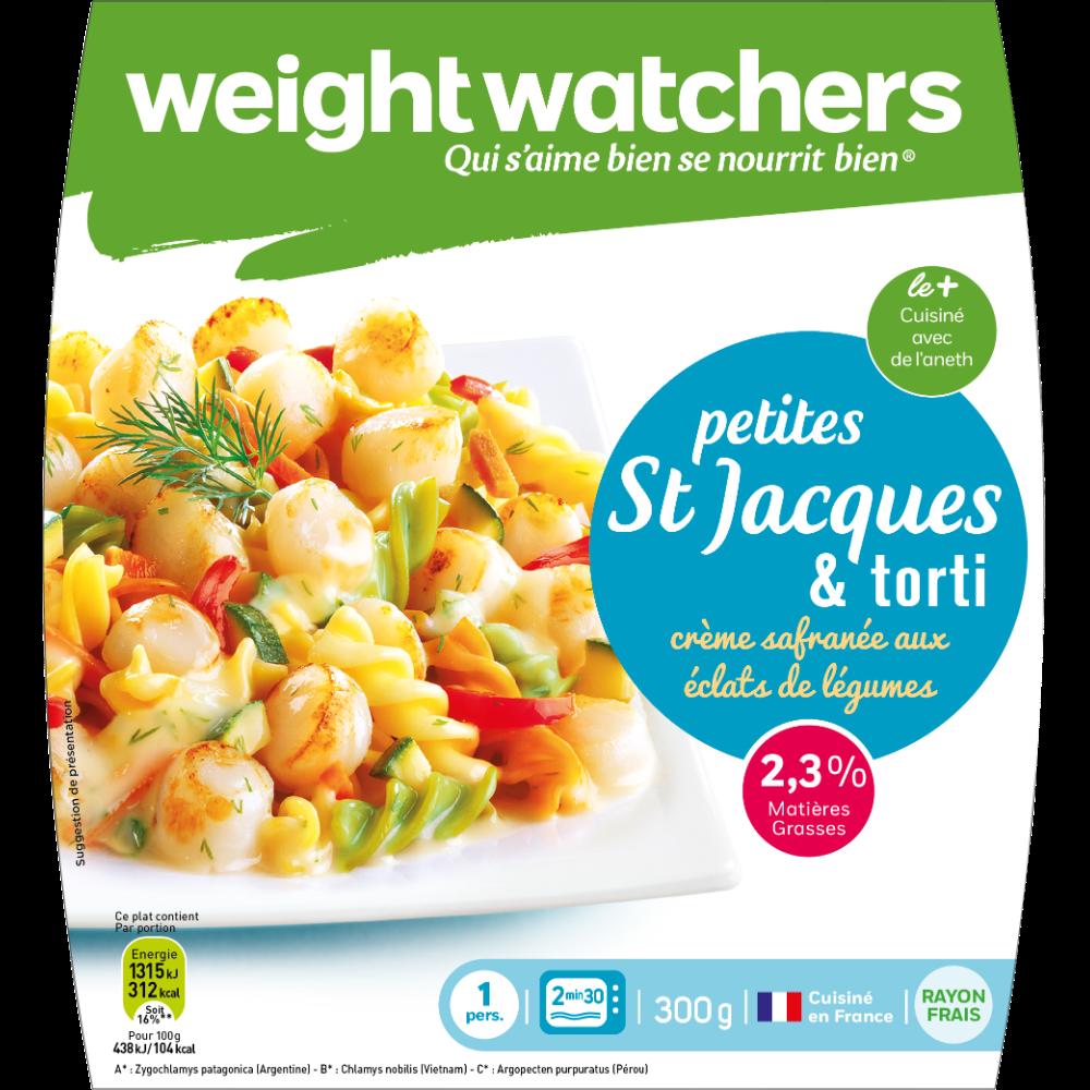 Saint Jacques et torti, Weight Watchers (300 g)