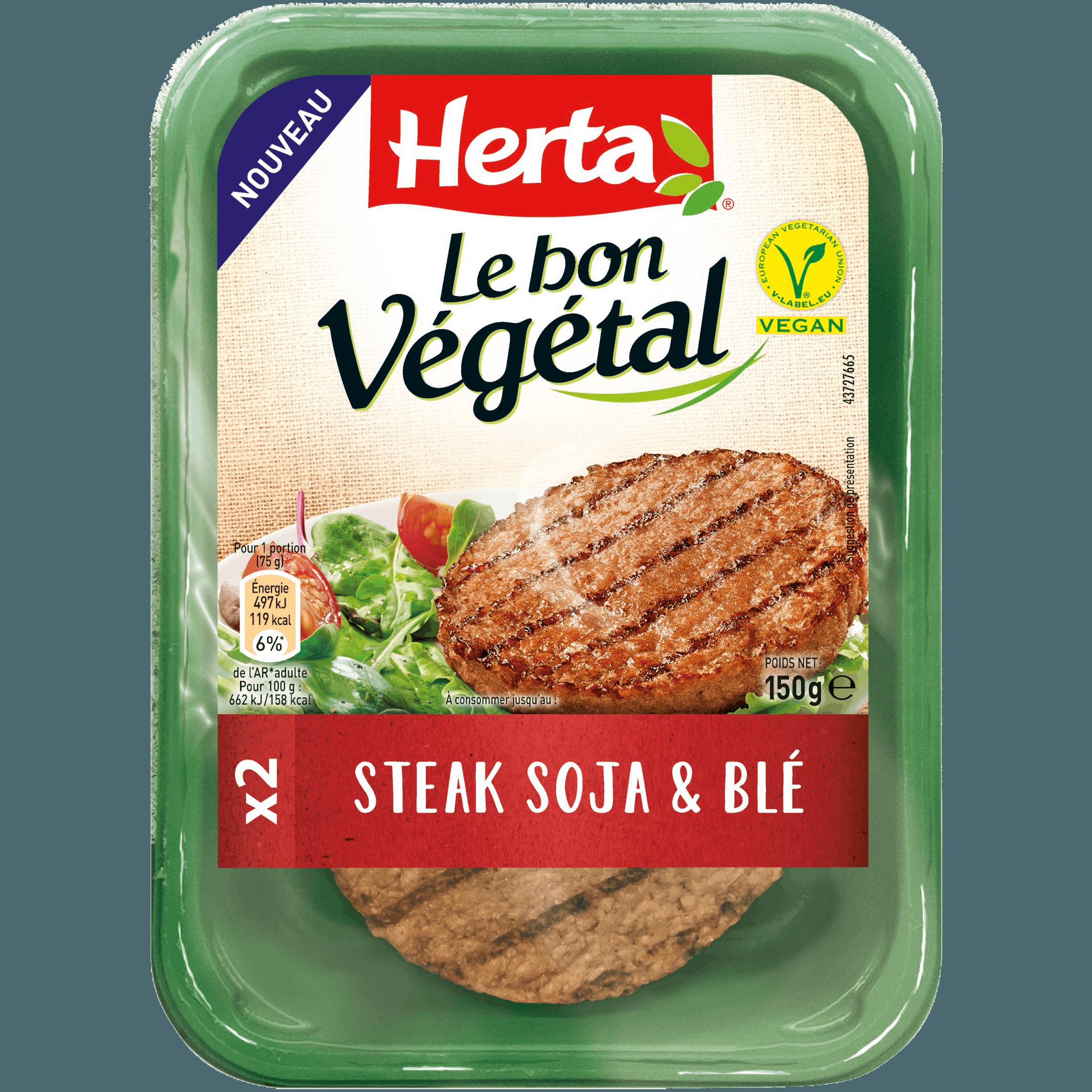 Steak de soja et de blé, Le Bon Végétal (x 2, 150 g)