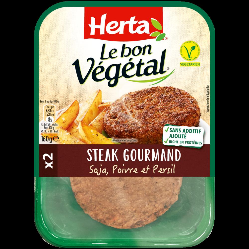 Steak gourmand Le Bon Végétal, Herta (160 g)