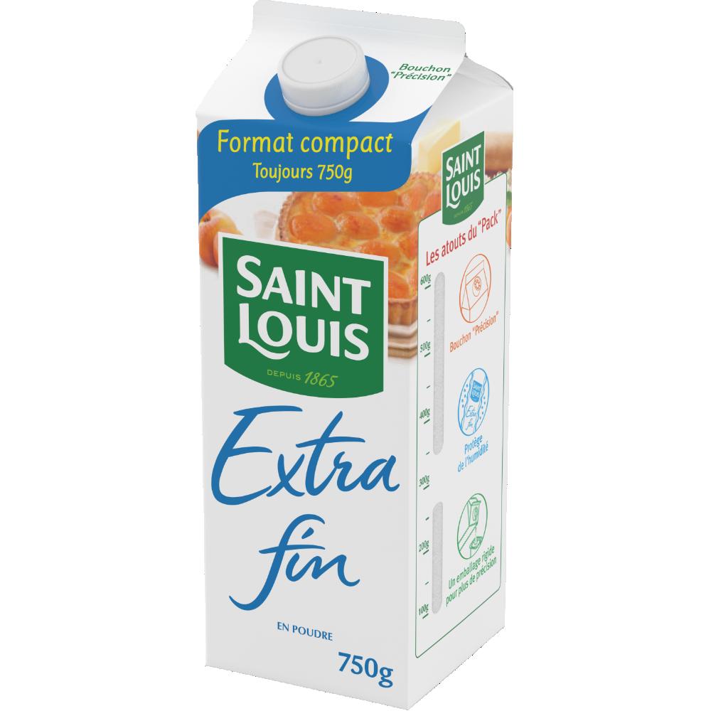Sucre en poudre extra fin, St Louis (750 g)
